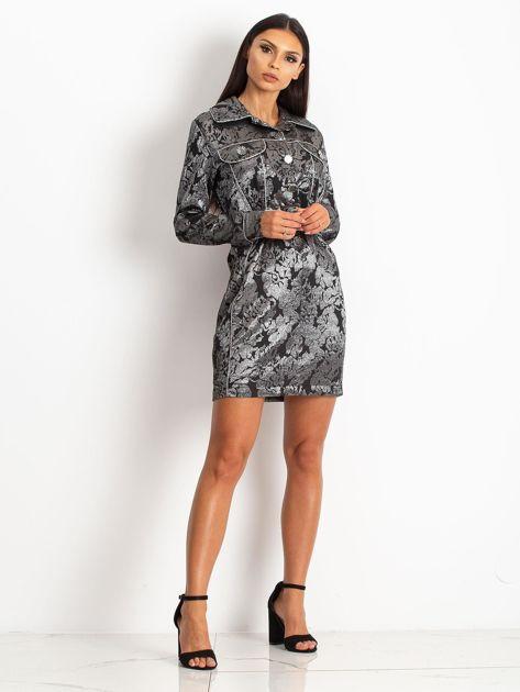 Czarna sukienka Moderne                              zdj.                              4