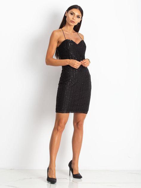 Czarna sukienka Sequin                              zdj.                              4