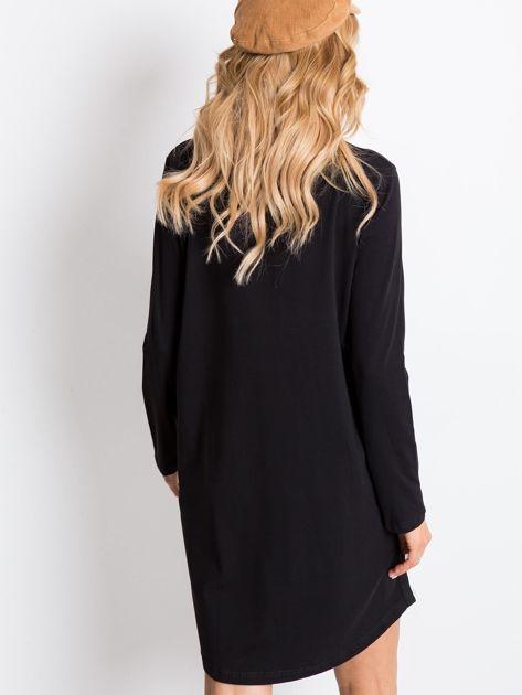 Czarna sukienka Temple                              zdj.                              2