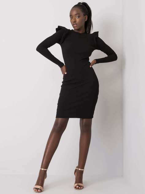 Czarna sukienka dopasowana Nala