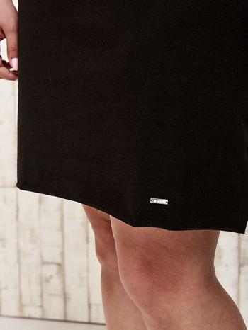 Czarna sukienka dresowa z misiem PLUS SIZE                                  zdj.                                  6