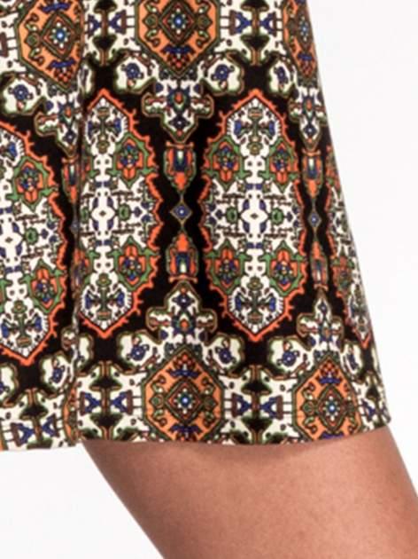 Czarna sukienka etno z rozszerzanymi rękawami                                  zdj.                                  6