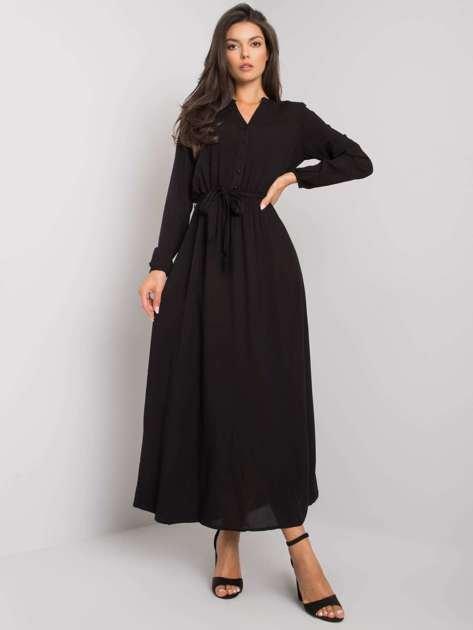 Czarna sukienka maxi Nahila FRESH MADE