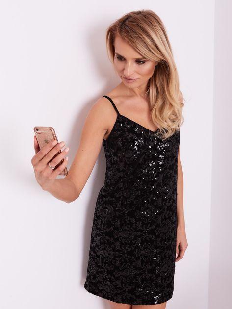 Czarna sukienka mini                               zdj.                              8
