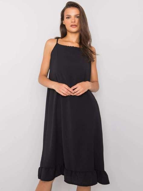 Czarna sukienka na ramiączkach Simone