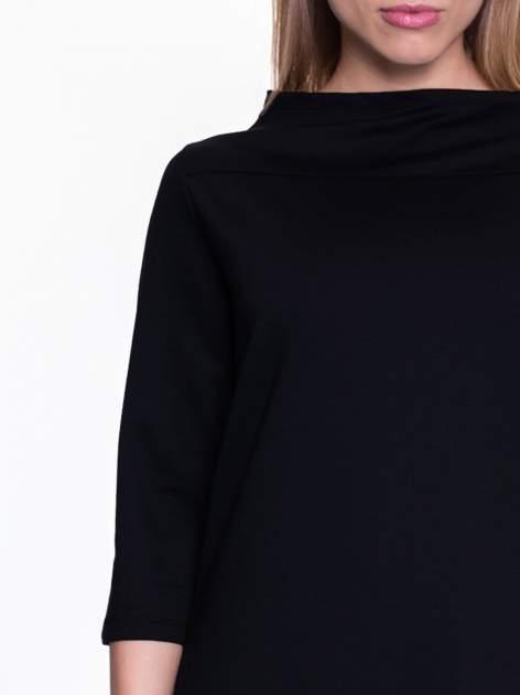 Czarna sukienka retro z półgolfem                                  zdj.                                  5