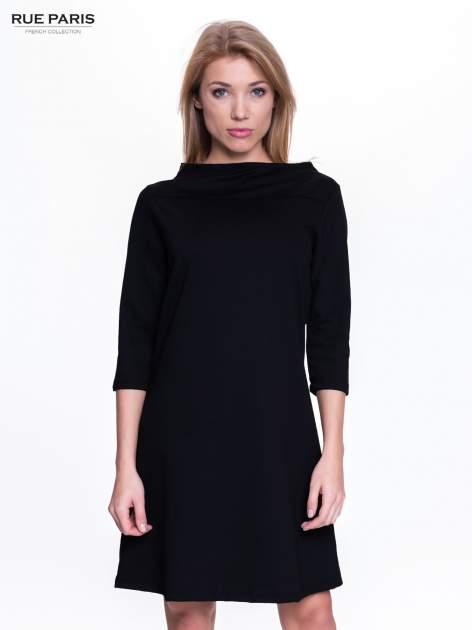 Czarna sukienka retro z półgolfem                                  zdj.                                  1