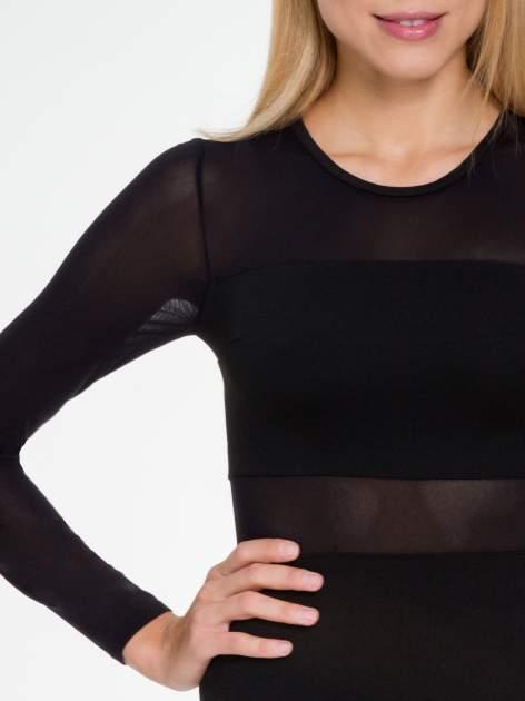 Czarna sukienka tuba z transparentnymi modułami                                  zdj.                                  5