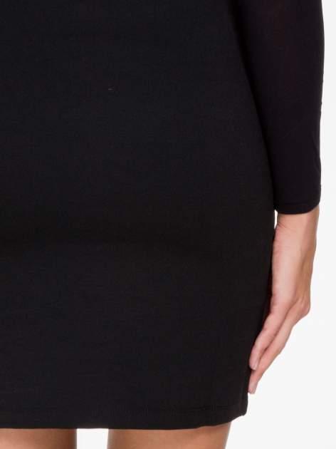 Czarna sukienka tuba z transparentnymi modułami                                  zdj.                                  8