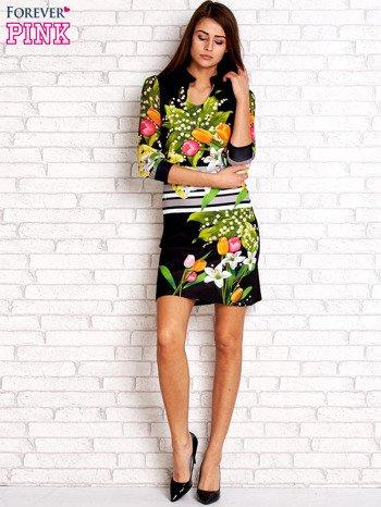 Czarna sukienka w kwiaty                                  zdj.                                  2