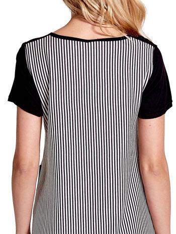 Czarna sukienka w pionowe drobne paski                                  zdj.                                  6