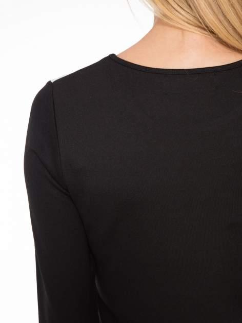 Czarna sukienka z fotograficznym nadrukiem krajobrazu                                  zdj.                                  8