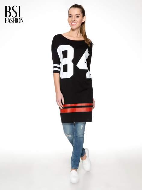 Czarna sukienka z numerem w stylu baseball dress                                  zdj.                                  2