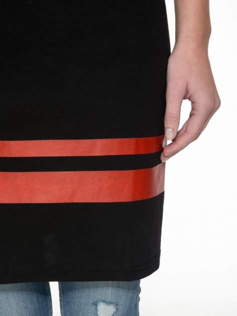 Czarna sukienka z numerem w stylu baseball dress                                  zdj.                                  6