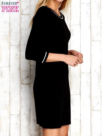 Czarna sukienka z rękawem 3/4                                  zdj.                                  3