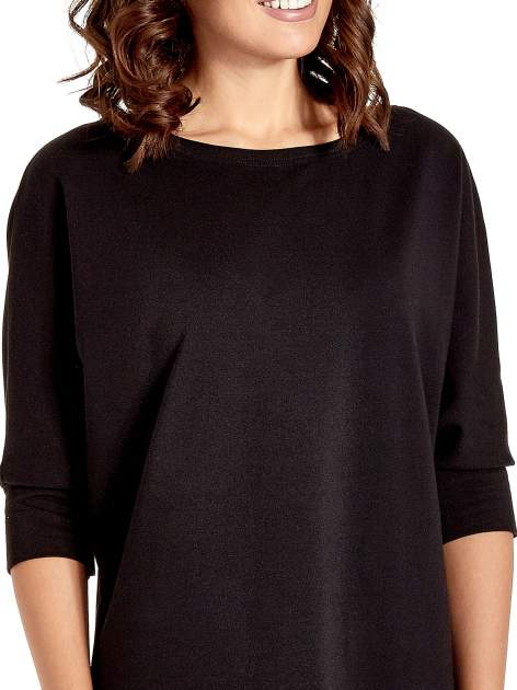 Czarna sukienka z rękawem przed łokieć                                  zdj.                                  6