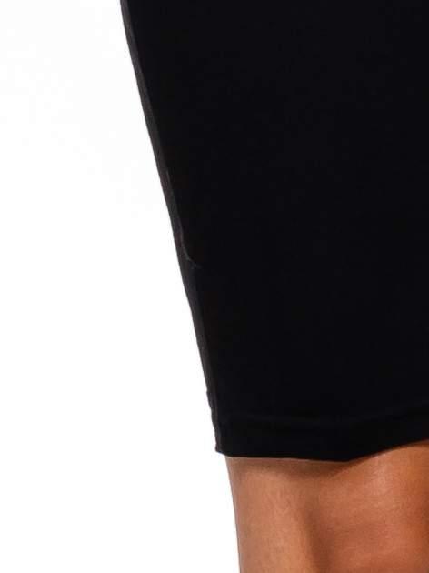 Czarna sukienka z suwakiem                                  zdj.                                  6