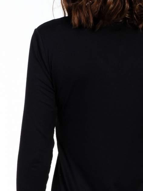 Czarna sukienka z suwakiem                                  zdj.                                  7