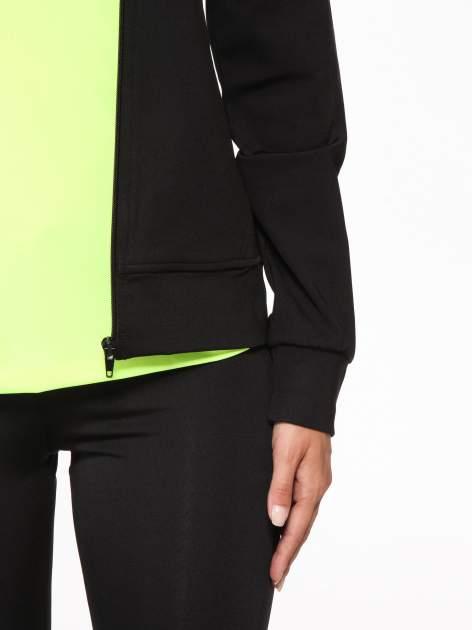 Czarna termoaktywna bluza do biegania z fluozielonymi wstawkami ♦ Performance RUN                                  zdj.                                  7