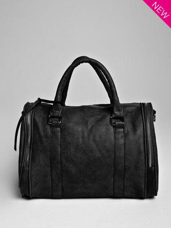Czarna torba bowling z suwakami