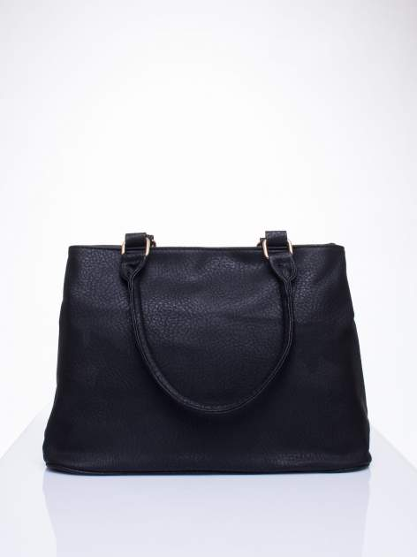Czarna torba miejska na ramię                                  zdj.                                  4