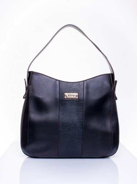 Czarna torba miejska two tone                                  zdj.                                  2