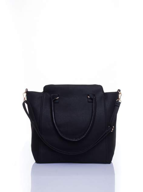 Czarna torba shopper bag                                  zdj.                                  1