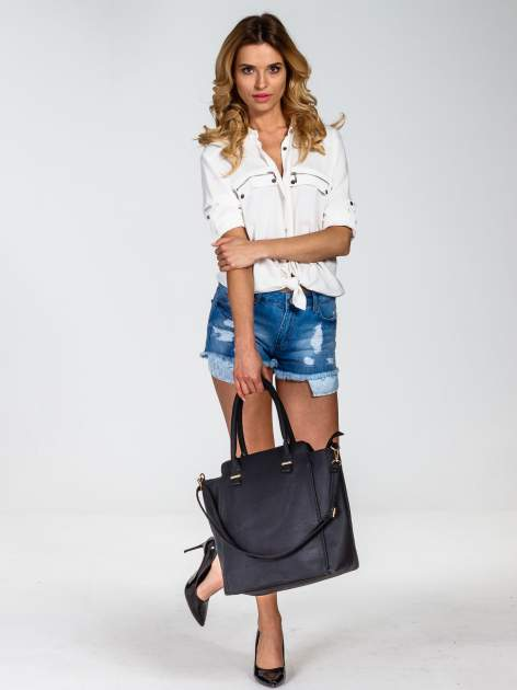 Czarna torba shopper bag                                  zdj.                                  2
