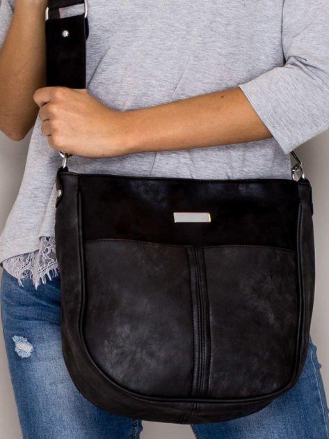 Czarna torba z błyszczącym modułem                                   zdj.                                  1