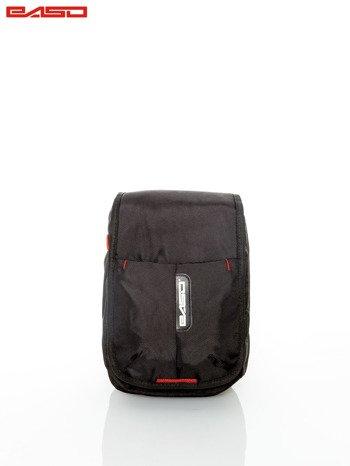 Czarna torba z regulowanym paskiem                                   zdj.                                  1