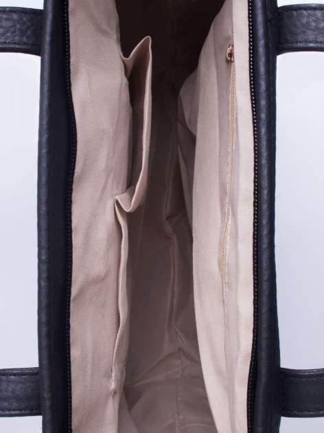 Czarna torebka shopper bag z kokardką                                  zdj.                                  5