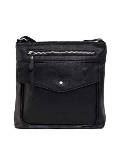 Czarna torebka ze skóry ekologicznej