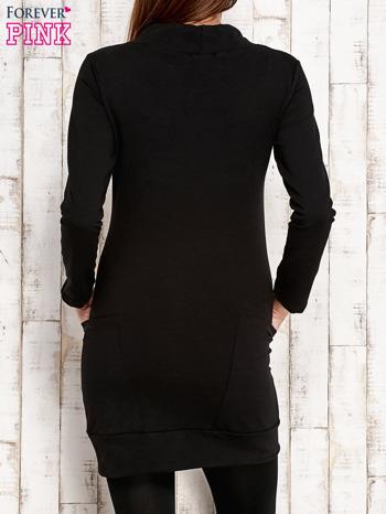 Czarna tunika z troczkami                                  zdj.                                  4