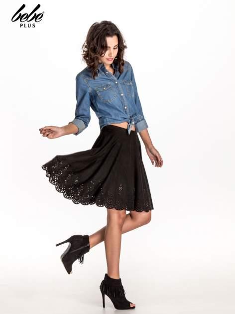 Czarna zamszowa spódnica w stylu boho                                  zdj.                                  8