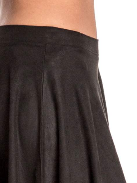 Czarna zamszowa spódnica w stylu boho                                  zdj.                                  6