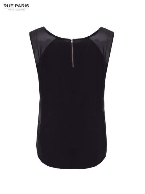 Czarna zwiewna koszula z dżetami                                  zdj.                                  4
