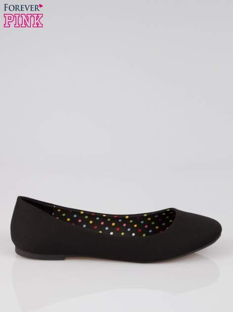 Czarne baletki z tkaniny