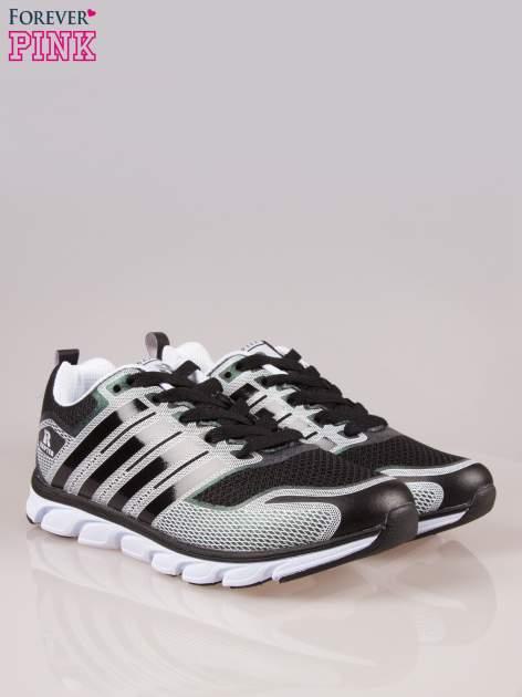 Czarne buty sportowe damskie z elastyczną podeszwą                                  zdj.                                  2