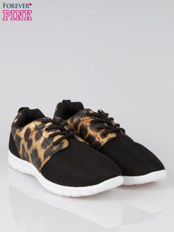 Czarne buty sportowe dual Lead Up z panterkową wstawką                                  zdj.                                  2