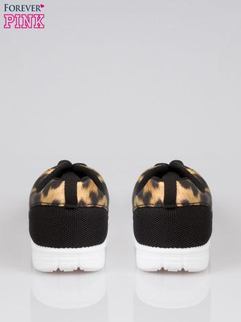 Czarne buty sportowe dual Lead Up z panterkową wstawką                                  zdj.                                  3