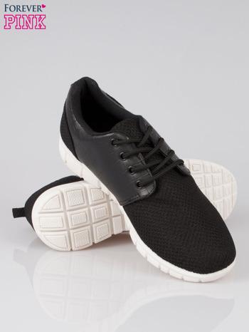 Czarne buty sportowe dual Lead Up z wężową wstawką                                  zdj.                                  4