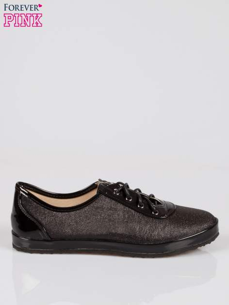 Czarne buty sportowe faux leather Adorable z efektem glitter                                  zdj.                                  1