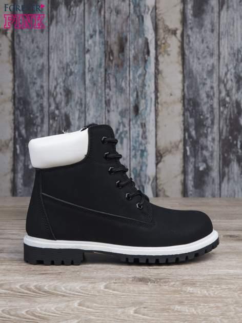 Czarne buty trekkingowe damskie traperki ocieplane                                  zdj.                                  1