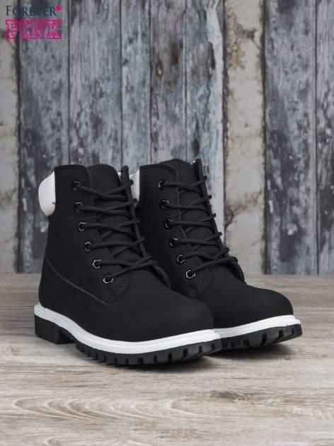 Czarne buty trekkingowe damskie traperki ocieplane                                  zdj.                                  3