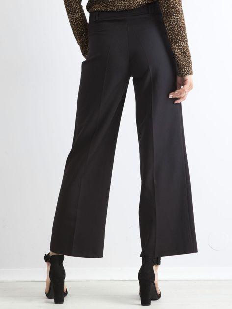 Czarne damskie szerokie spodnie                              zdj.                              2