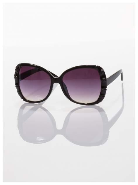 Czarne duże okulary dla kobiet klasyczna oprawka z filtrami UV                                  zdj.                                  2