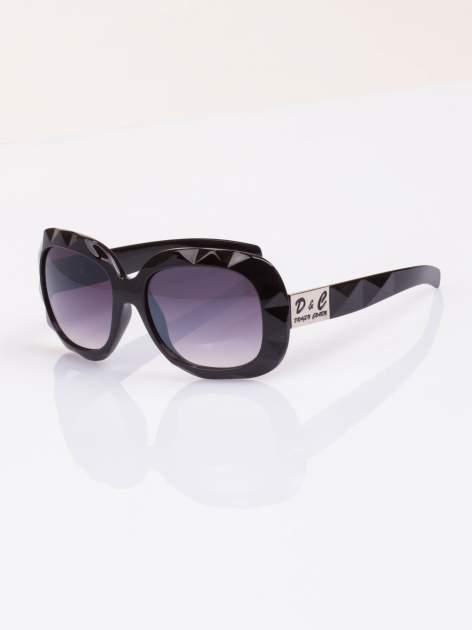 """Czarne duże okulary przeciwsłoneczne """"MUCHY""""filtry UV,normy CE"""