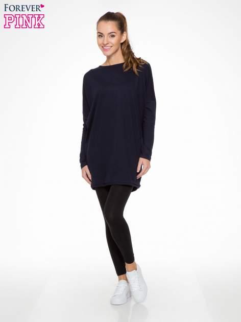 Czarne elastyczne legginsy damskie z bawełny                                  zdj.                                  2