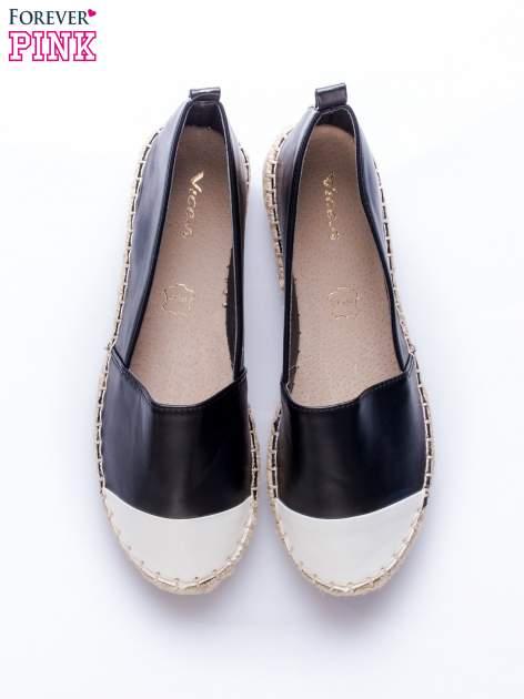 Czarne espadryle faux leather Madeleine two tone                                  zdj.                                  6