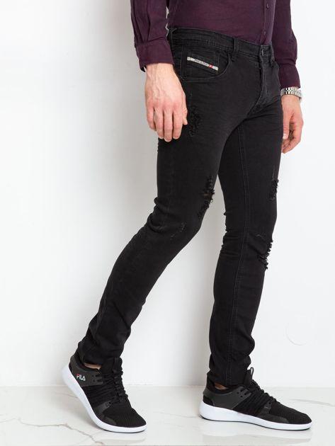 Czarne jeansy męskie Impression                              zdj.                              3